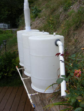 build downspout rainwater collection